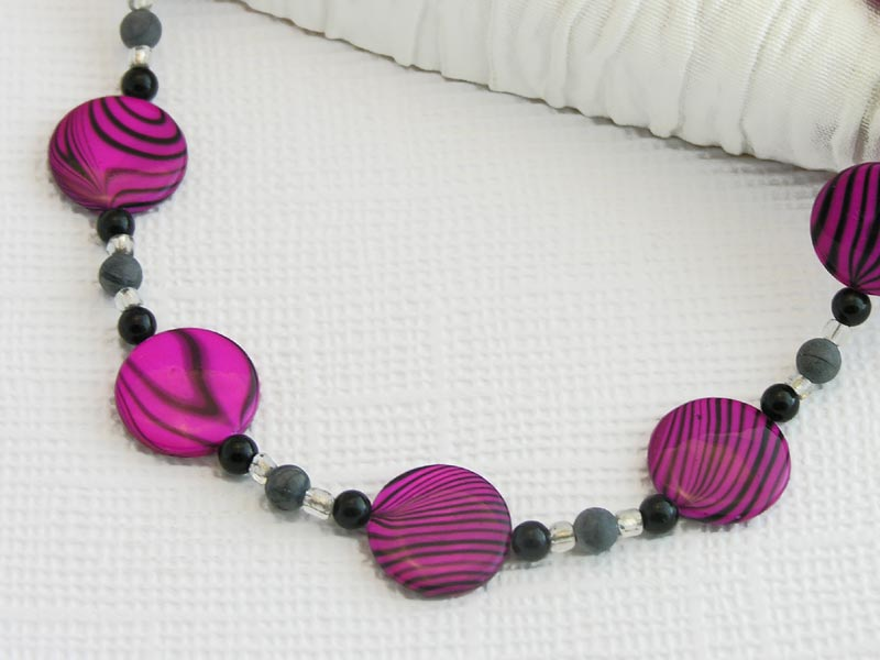 Cerise Swirl Necklace