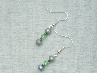 sea green earrings sold