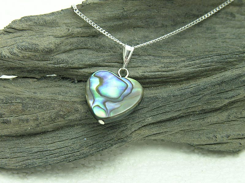 Abalone Large Heart Necklace