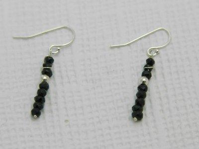 black-spinel-earrings
