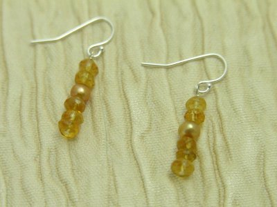 citrine-pearl-rondelle-earrings